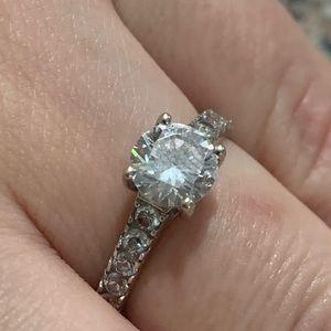 Jewelry - White Gold Cz Ring